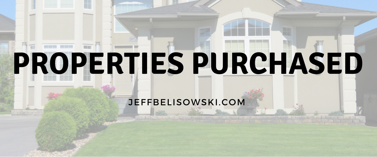 Properties Purchased on behalf of my clients.