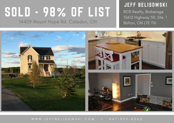 Sold for 98% of List Price - 14409 Mount Hope Rd. Caledon, Ontario