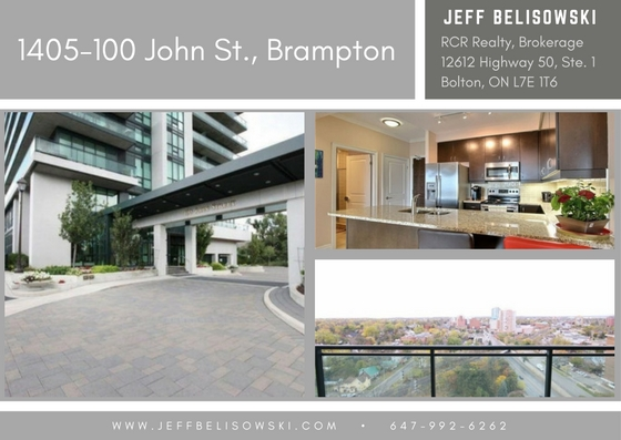 Condo Purchased by My Client as an Investment Property - 1405-100 John St., Brampton