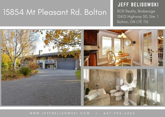 Lovely Country Home Purchased - 15854 Mount Pleasant, Bolton, Ontario