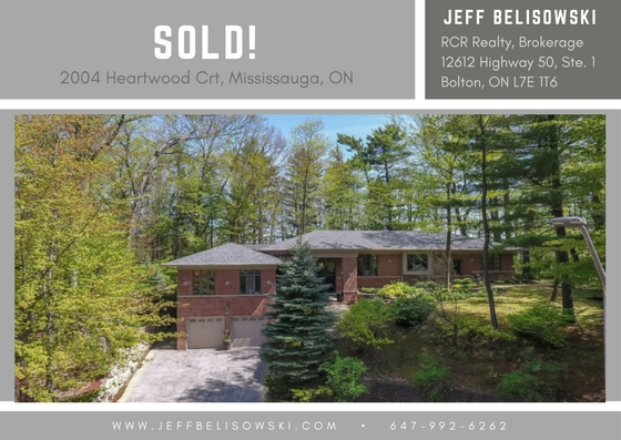 HOME SOLD - SOLD - 2004 Heartwood Crt, Mississauga, ON