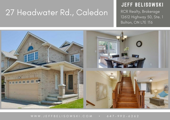 Purchased by a Terrific Young Couple - 27 Headwater Rd, Caledon, Ontario