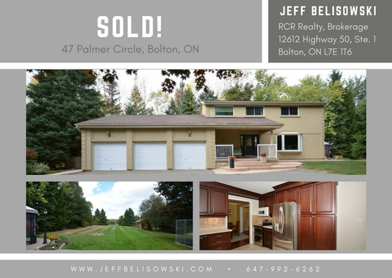 Sold for 97% of the List Price - 47 Palmer Circle, Bolton, ON