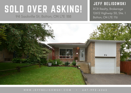 Sold 104% Over Asking - Bolton, Ontario