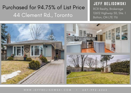 House Purchased Under Asking - 44 Clement Rd, Toronto, Ontario