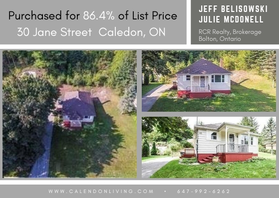 Properties Sold by Jeff Belisowski - 30 Jane Street, Caledon