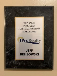 ipro - Jeff Belisowski was awarded the March 2020 Sales Award for Top Sales Producer