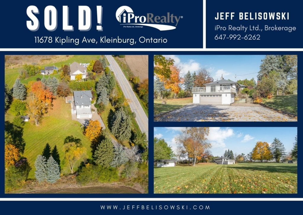 sold property for client in Kleinburg, Ontario